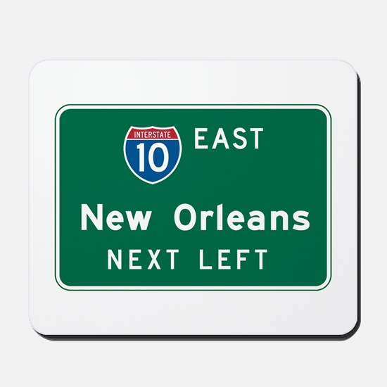 New Orleans, LA Highway Sign Mousepad