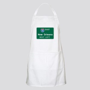 New Orleans, LA Highway Sign BBQ Apron