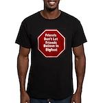 Bigfoot Men's Fitted T-Shirt (dark)