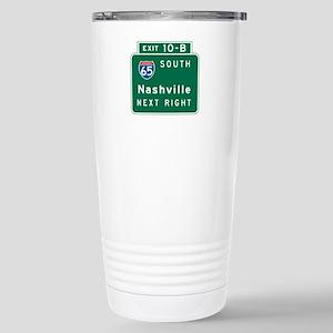Nashville, TN Highway Sign Stainless Steel Travel