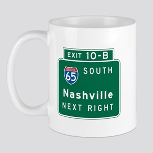 Nashville, TN Highway Sign Mug