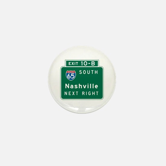 Nashville, TN Highway Sign Mini Button