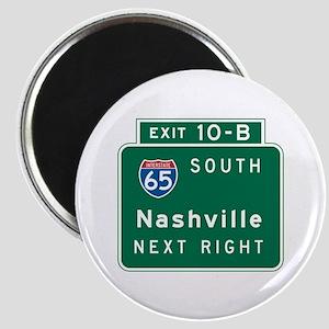 Nashville, TN Highway Sign Magnet