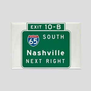 Nashville, TN Highway Sign Rectangle Magnet