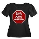 Chupacab Women's Plus Size Scoop Neck Dark T-Shirt