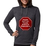 Chupacabras Womens Hooded Shirt