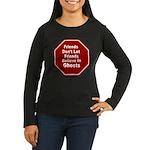 Ghosts Women's Long Sleeve Dark T-Shirt