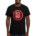 UFOs Men's Fitted T-Shirt (dark)
