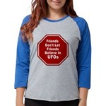 UFOs Womens Baseball Tee