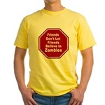 Zombies Yellow T-Shirt