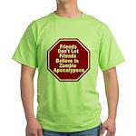 Zombie Apocalypses Green T-Shirt