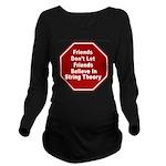 String Theory Long Sleeve Maternity T-Shirt
