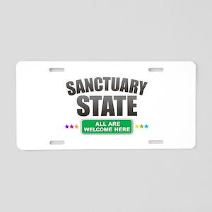 Sanctuary State Aluminum License Plate