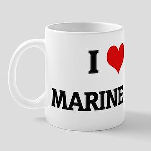 I Love My Marine Fiance Mug