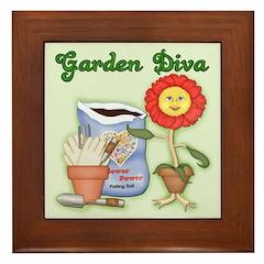 Garden Diva Framed Tile