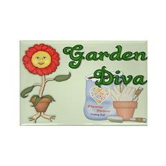 Garden Diva Rectangle Magnet