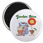 """Garden Diva 2.25"""" Magnet (10 pack)"""