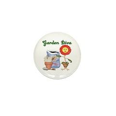 Garden Diva Mini Button (10 pack)