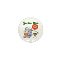 Garden Diva Mini Button (10 pack)