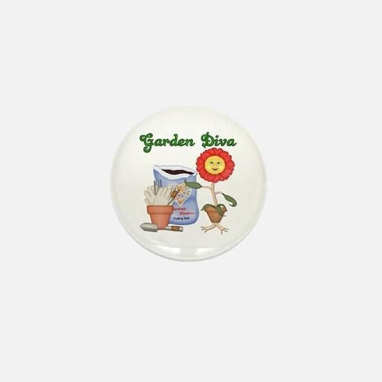 Garden Diva Mini Button