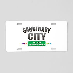 Sanctuary City Aluminum License Plate