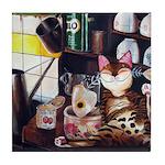 Cat art - Kopitiam Tile Coaster
