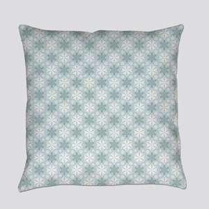 Teal Snowflakes Everyday Pillow