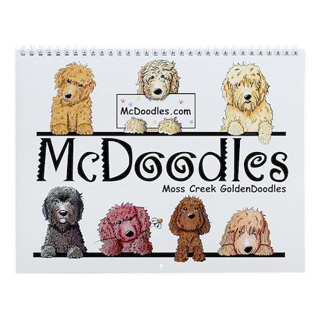 Goldendoodle McDoodles Wall Calendar