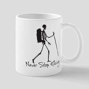 Never Stop Hiking 11 oz Ceramic Mug