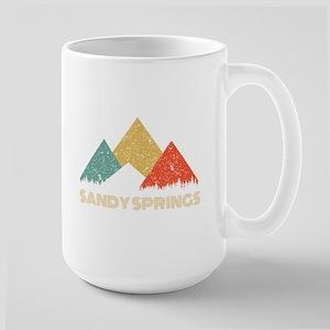 Retro City of Sandy Springs Mountain Shirt Mugs