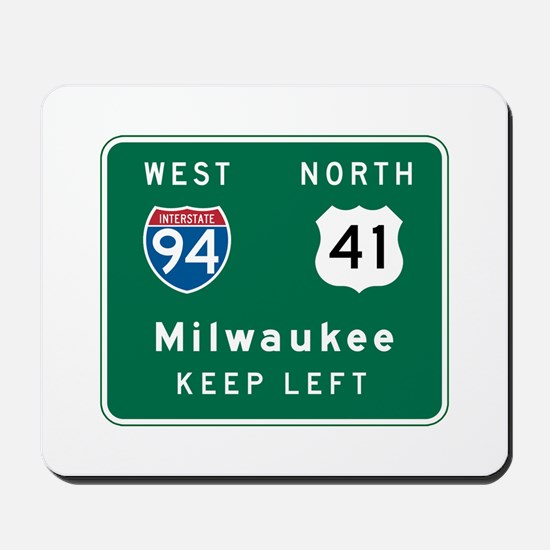 Milwaukee, WI Highway Sign Mousepad