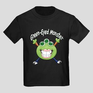 Green Eyed Monster Kids Dark T-Shirt