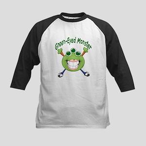 Green Eyed Monster Kids Baseball Jersey