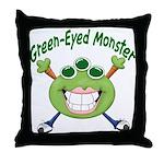 Green Eyed Monster Throw Pillow