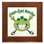Green Eyed Monster Framed Tile