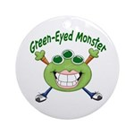 Green Eyed Monster Ornament (Round)