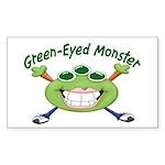 Green Eyed Monster Rectangle Sticker