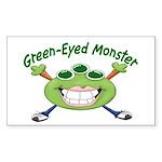 Green Eyed Monster Rectangle Sticker 50 pk)
