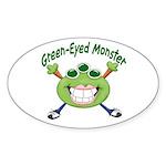Green Eyed Monster Oval Sticker (10 pk)