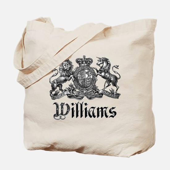 Williams Vintage Crest Family Name Tote Bag
