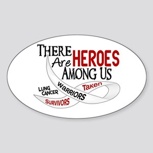 Heroes Among Us BONE CANCER Oval Sticker