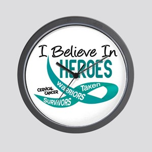 I Believe In Heroes CERVICAL CANCER Wall Clock