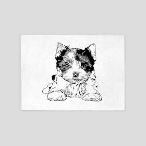 Biewer Terrier 5'x7'Area Rug