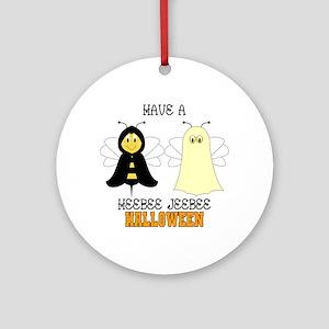 HeeBee JeeBee Halloween Ornament (Round)