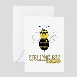 Spelling bee greeting cards cafepress spelling bee champ greeting card m4hsunfo