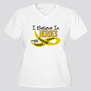 I Believe In Heroes CHILDHOOD CANCER Women's Plus