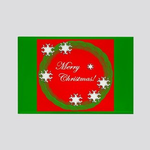 Merry Christmas Stocking Stuffer Rectangle Magnet