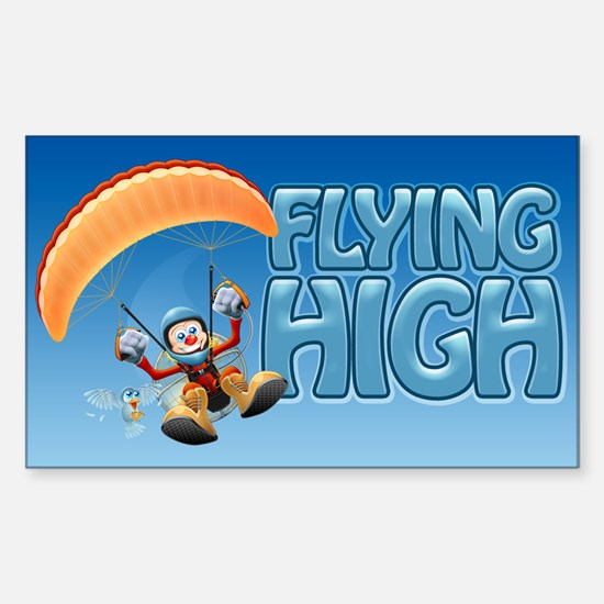 Flying High Paramotor Rectangle Decal