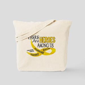 Heroes Among Us CHILDHOOD CANCER Tote Bag