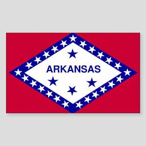 Arkansas State Flag Rectangle Sticker